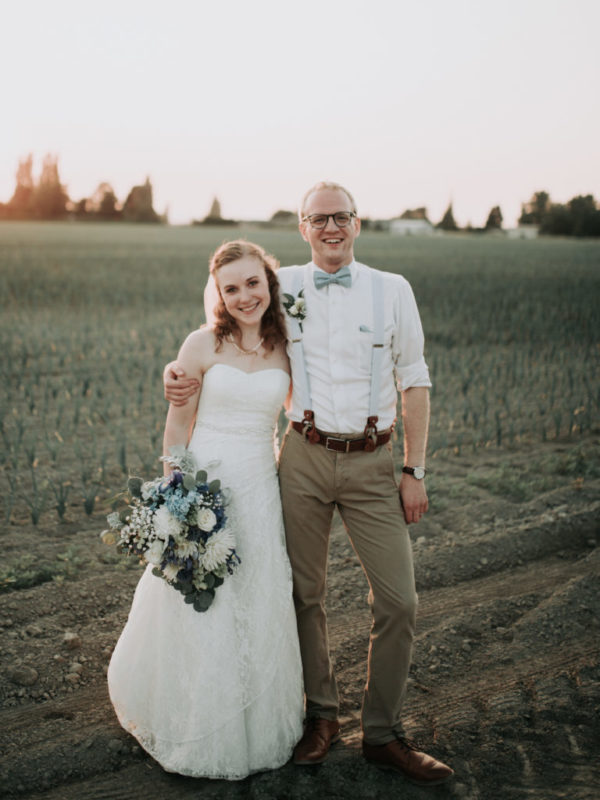My Wife and I at our wedding in July 2018